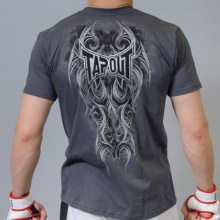 tapout warrior tshirt grey back