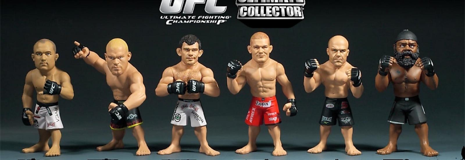Фигурки бойцов UFC в движении